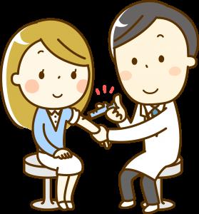 コロナウイルスワクチンの接種のイメージ像